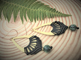 Q'ocha Macrame Droplet Earrings with Seraphinite