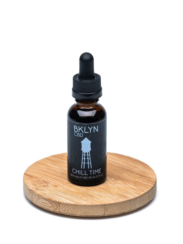 Shop our Chill Time 1800mg at BKLYN . Our full spectrum tincture promotes a sense of calmness and reduces inflammation. We offer free shipping