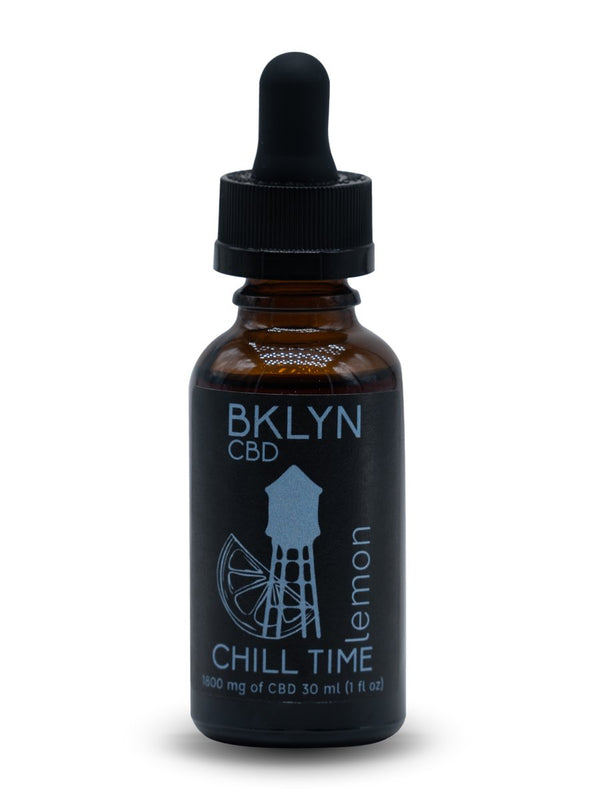 Shop our Lemon Chill Time 1800mg at BKLYN. Our full spectrum tincture promotes a sense of calmness and reduces inflammation. We offer free shipping