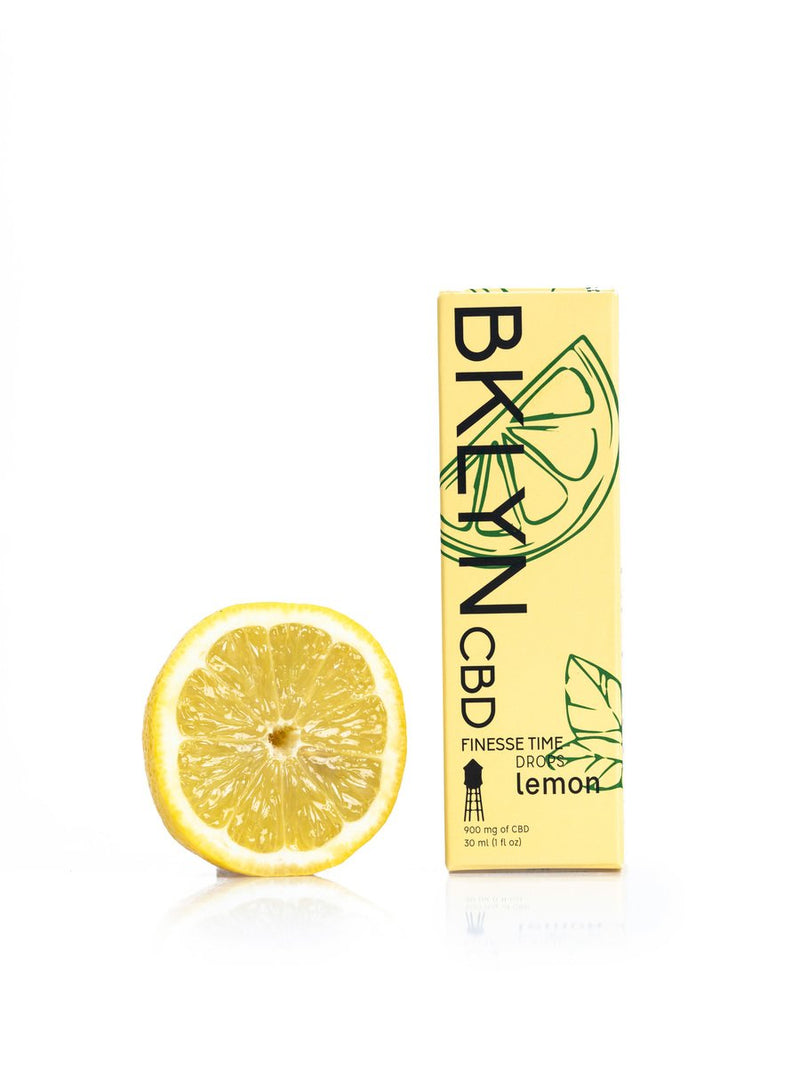Shop our Lemon flavored Finesse Time 900mg at BKLYN. Our full spectrum tincture promotes a sense of calmness and reduces inflammation. At BKLYN, we offer free shipping