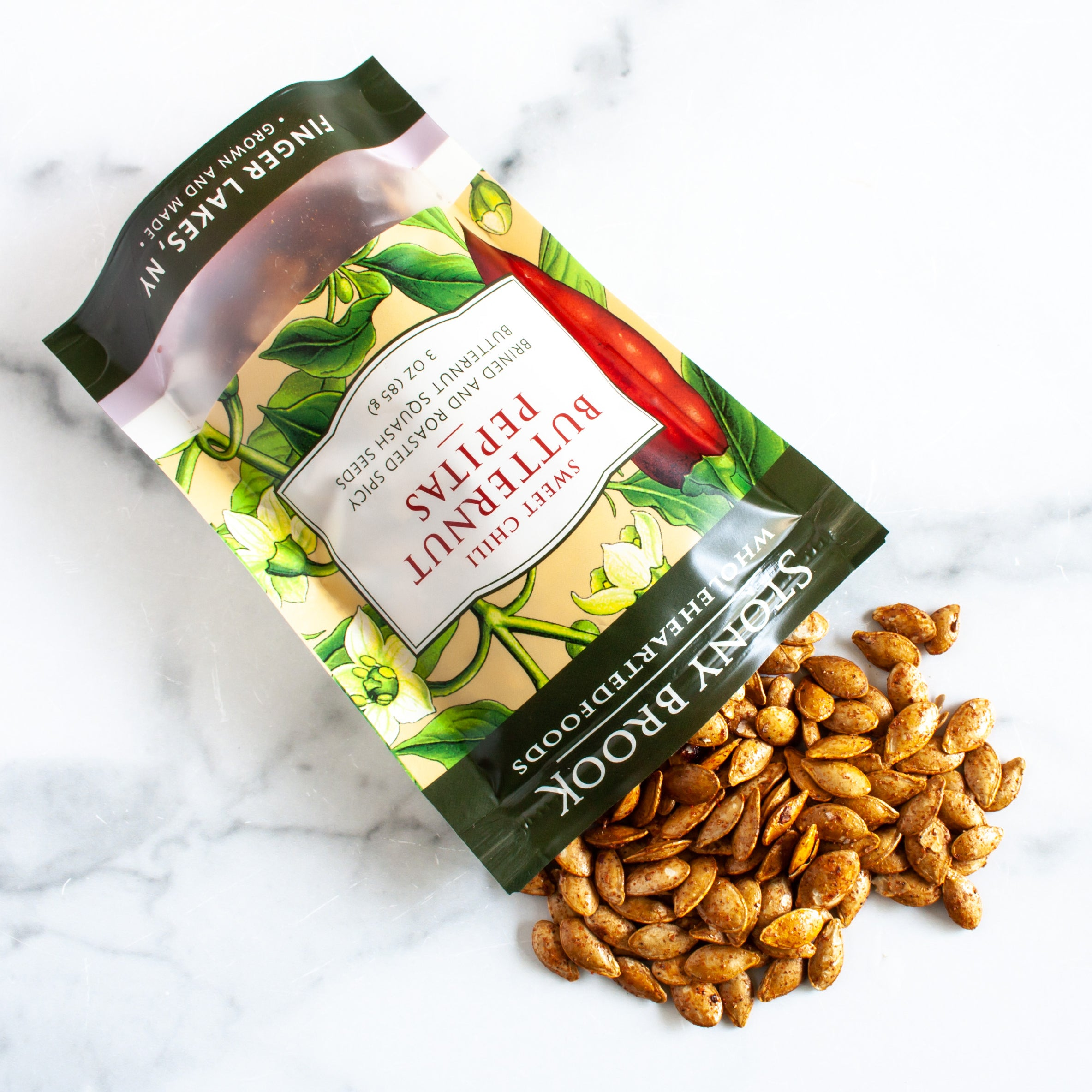 Sweet Chili Roasted Butternut Squash Seeds