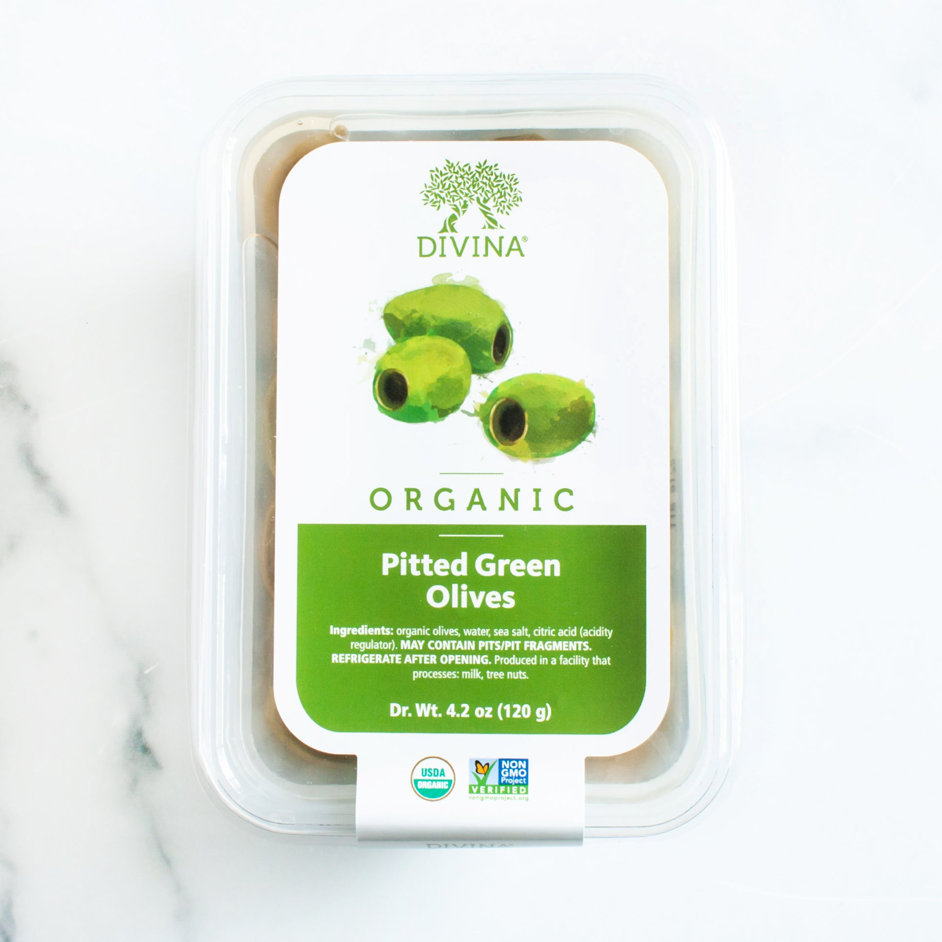 Organic Pitted Green Olives