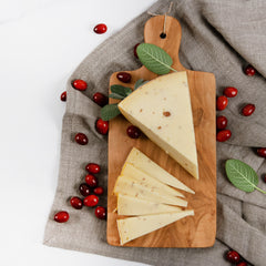 Artikaas Gouda Cheese with Cranberries_Cut & Wrapped by igourmet_Cheese