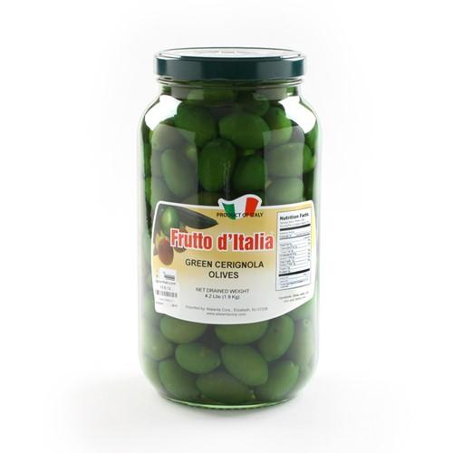Green Bella di Cerignola Olives - Large Jar