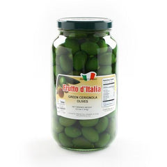 Green Bella di Cerignola Olives - Large Jar - igourmet