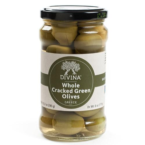 Cracked Green Olives