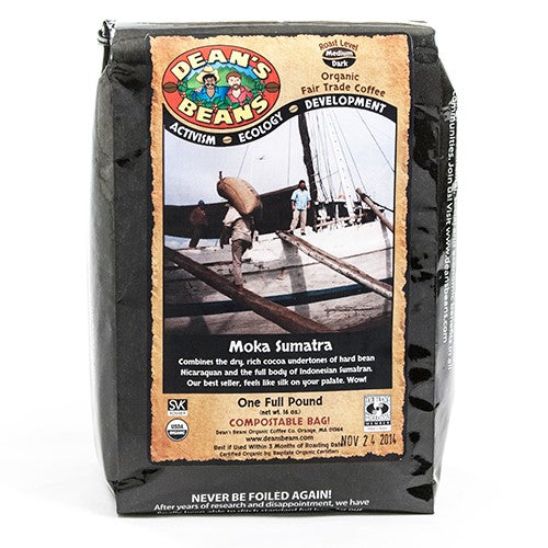 Organic Moka Sumatra Whole Bean Coffee