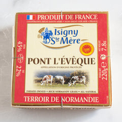 Pont L'Eveque Cheese AOP_Isigny_Cheese