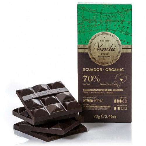 Organic Ecuador 70% Dark Chocolate Bar