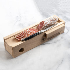 Salami Cave with Knife - igourmet