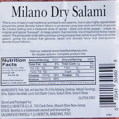 Milano Salami - Sliced