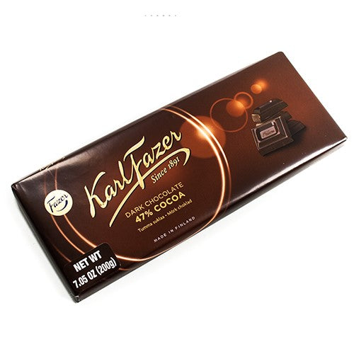 Karl Fazer Dark Chocolate Bar