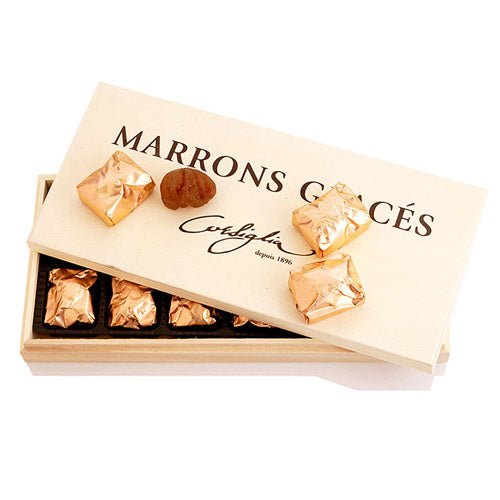 Marrons Glaces in Wooden Box