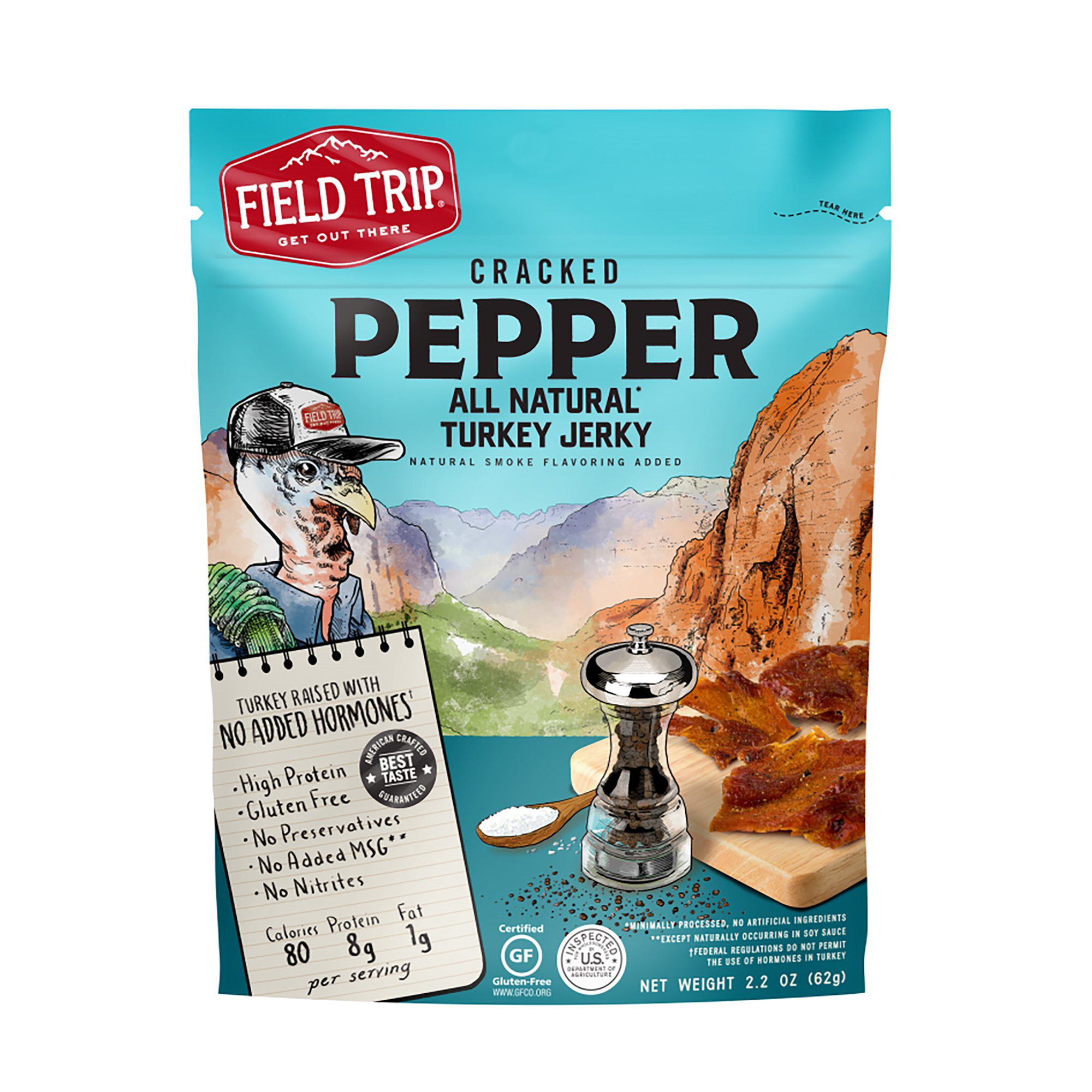 Cracked Pepper All Natural Turkey Jerky