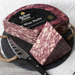 Belton Farm's Port Wine Derby Cheese - igourmet