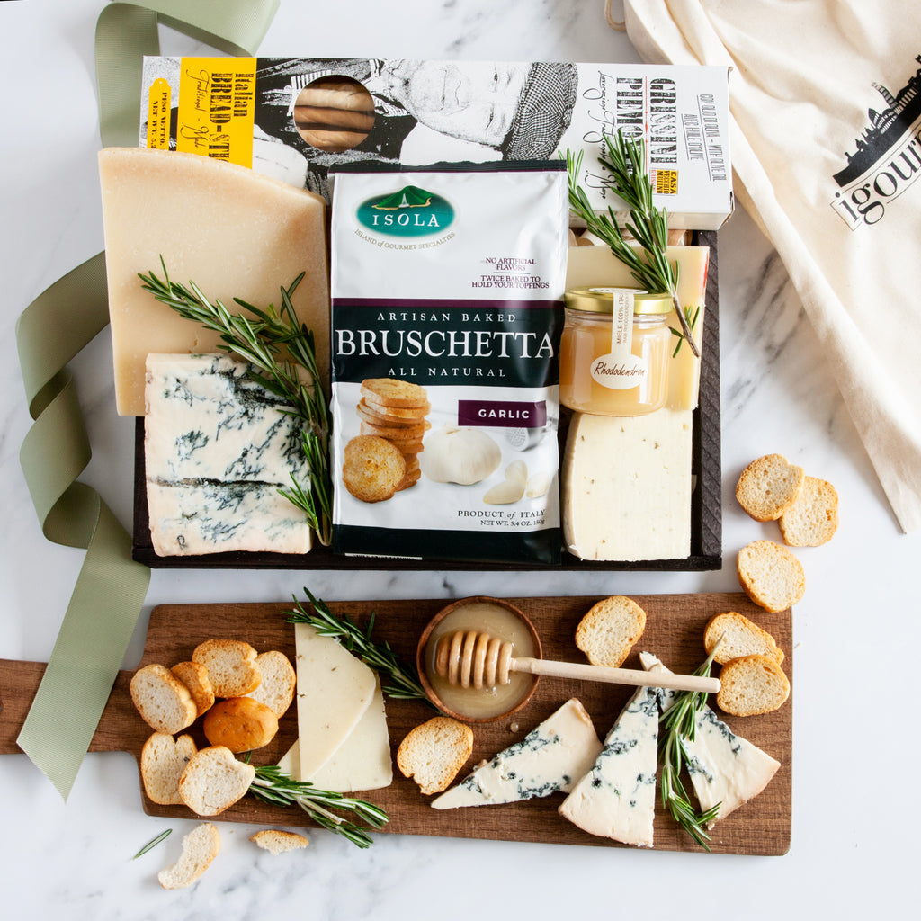 Italian Countryside Cheeses Gift Crate