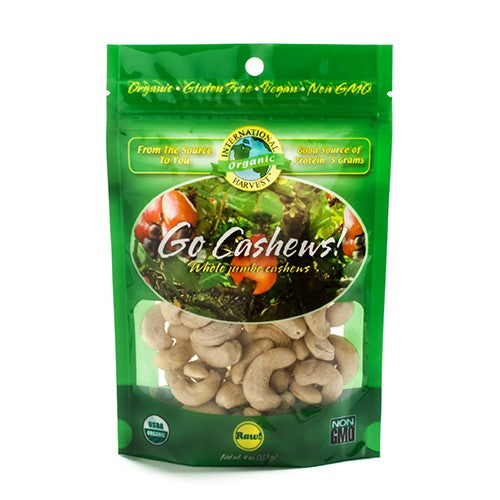 Organic Jumbo Raw Cashews