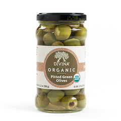 Organic Pitted Green Olives - igourmet