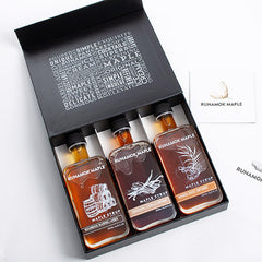 Barrel Aged & Infused Maple Syrup Gift Box - igourmet