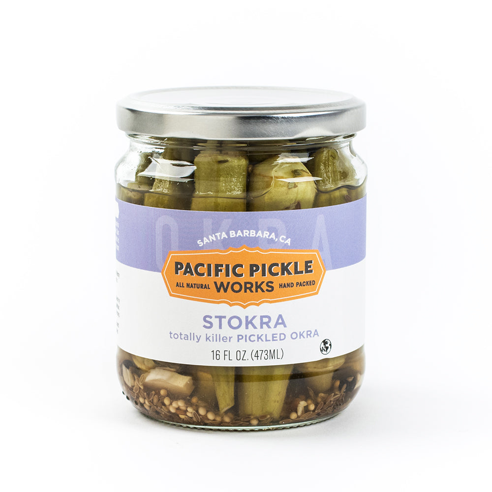Stokra Hot Pickled Okra