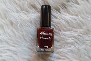'Wine' vamp nail varnish