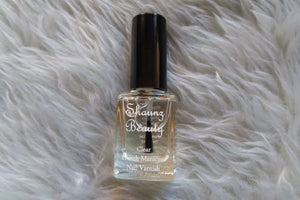 'Crystal' clear nail varnish