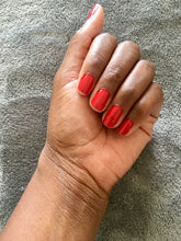 'Flame' red nail varnish