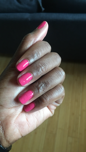 'Candy' shocking pink nail varnish
