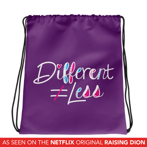 Drawstring bag Netflix's Raising Dion Esperanza Sammi Haney Different Does Not Equal Less