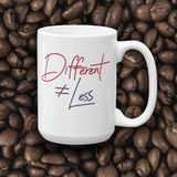 mug Netflix's Raising Dion Esperanza Sammi Haney Different Does Not Equal Less T-Shirt