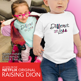 baby Shirt Different Does Not Equal Less Netflix's Raising Dion Esperanza Sammi Haney disability disabled wheelchair special needs