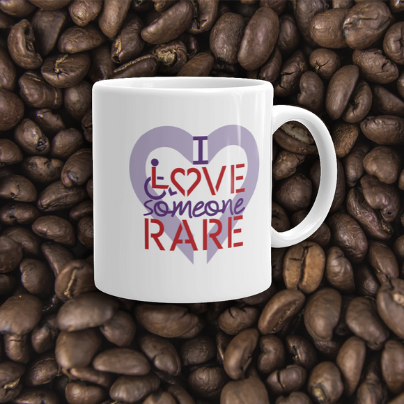 coffee mug I Love Someone with a Rare Condition medical disability disabilities awareness inclusion inclusivity diversity genetic disorder