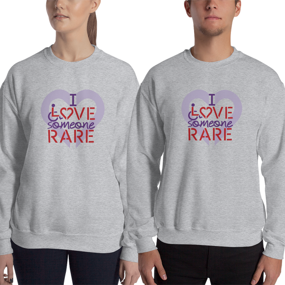 sweatshirt I Love Someone with a Rare Condition medical disability disabilities awareness inclusion inclusivity diversity genetic disorder