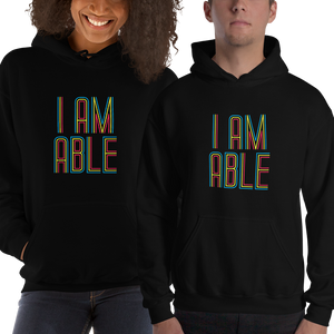 hoodie I am Able abled ability abilities differently abled differently-abled able-bodied disabilities people disability disabled wheelchair