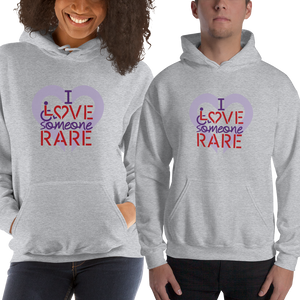 hoodie I Love Someone with a Rare Condition medical disability disabilities awareness inclusion inclusivity diversity genetic disorder