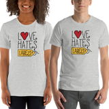 Shirt Love Hates Labels disability special needs awareness diversity wheelchair inclusion inclusivity acceptance