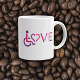 mug showing love for the special needs community heart disability wheelchair diversity awareness acceptance disabilities inclusivity inclusion