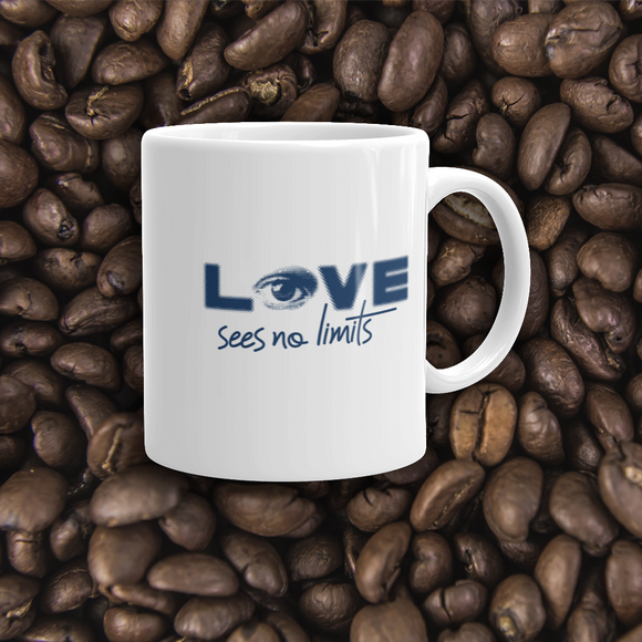 coffee mug love sees no limits halftone eye luv heart disability special needs expectations future