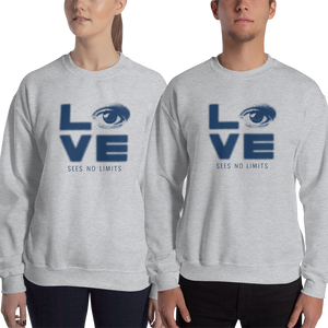 sweatshirt Shirt love sees no limits halftone eye luv heart disability special needs expectations future