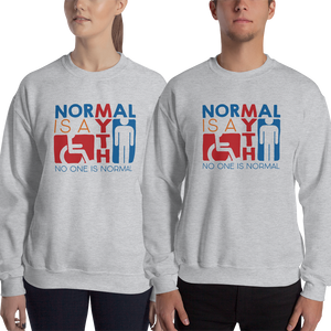 sweatshirt Normal is a myth sign icons people disabled handicapped able-bodied non-disabled popularity disability special needs