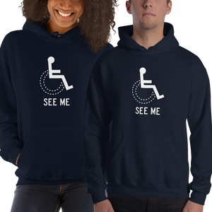 hoodie see me not my disability wheelchair inclusion inclusivity acceptance special needs awareness diversity