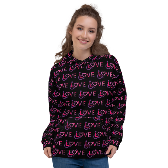 LOVE (for the Disability Community) Pattern - Women's Hoodie