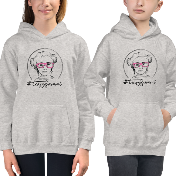 Kid's Hoodie #teamsammi, #sammihaney Raising Dion Esperanza Netflix Sammi Haney fan wheelchair pink glasses disability osteogenesis imperfecta OI