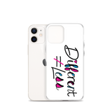 Different Does Not Equal Less (As Seen On Netflix's Raising Dion) White iPhone Case