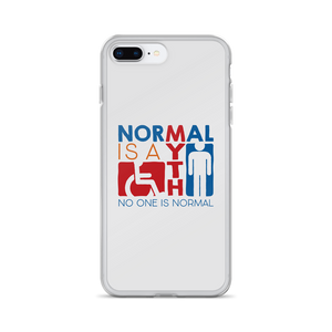 iPhone Case Normal is a myth sign icons people disabled handicapped able-bodied non-disabled popularity disability special needs