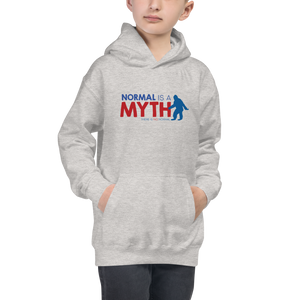 kid's hoodie normal is a myth big foot yeti sasquatch peer pressure popularity disability special needs awareness inclusivity acceptance activism