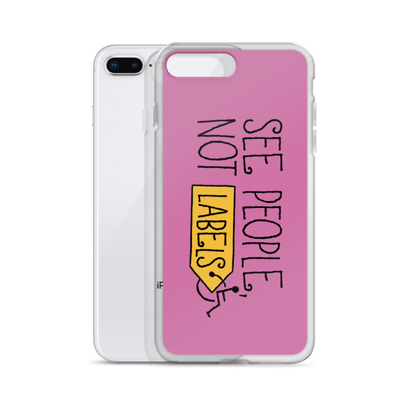 iPhone case See people not labels label disability special needs awareness diversity wheelchair inclusion inclusivity acceptance