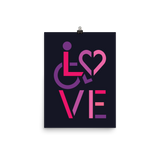 LOVE (for the Special Needs Community) Poster Stacked Design 2 of 3