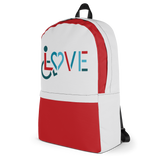 LOVE (for the Special Needs Community) Grey/Red Backpack