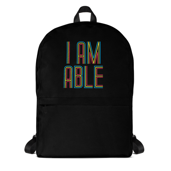 school backpack I am Able abled ability abilities differently abled differently-abled able-bodied disabilities people disability disabled wheelchair